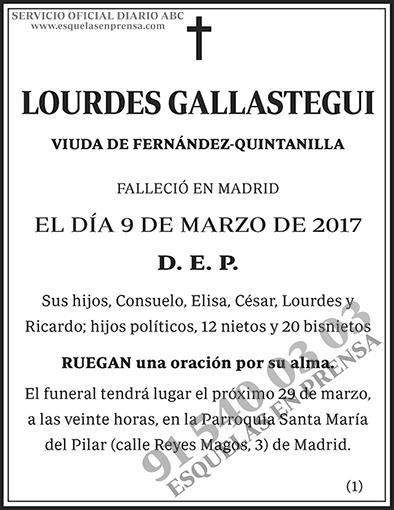Lourdes Gallastegui